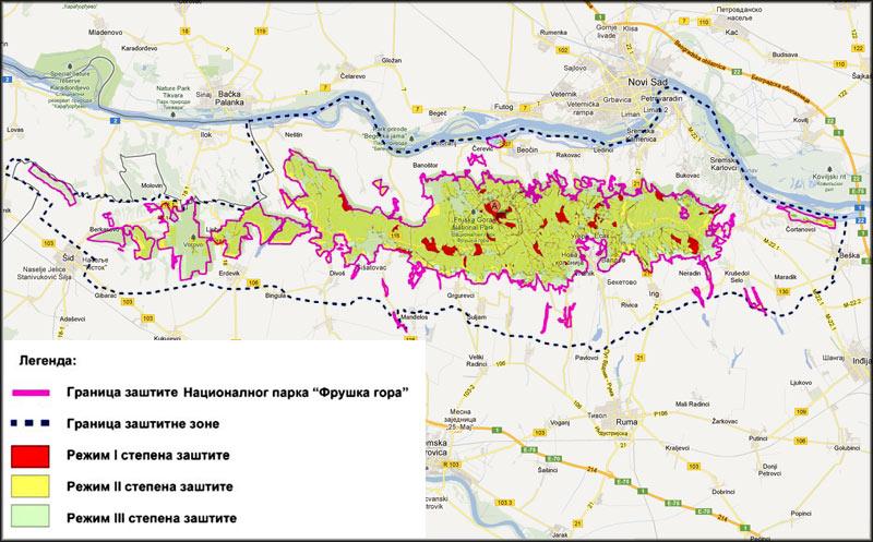 Nacionalni park Fruška gora - zone zaštite