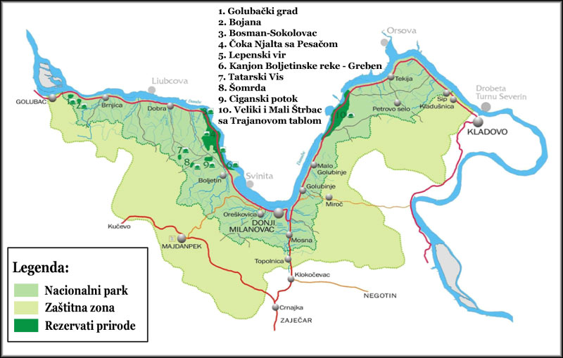 Nacionalni Park đerdap Polozaj Proglasenje Nacionalnog Parka I